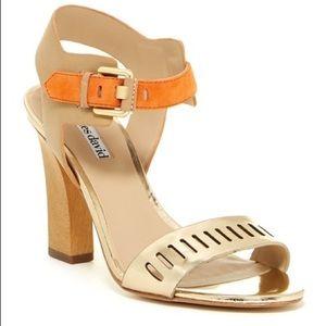 Charles David Justice Gold Orange Sandal Size 8